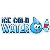 ICE Cold Water 12' Concession Decal Sign cart Trailer Stand Sticker Equipment