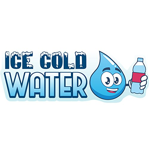 ICE Cold Water 8' Concession Decal Sign cart Trailer Stand Sticker Equipment