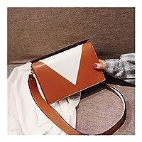 WASAIO 女性の財布ファッションレザー軽量ハンドバッグショルダーバッグ用小型クロスボディバッグ (Color : Brown)
