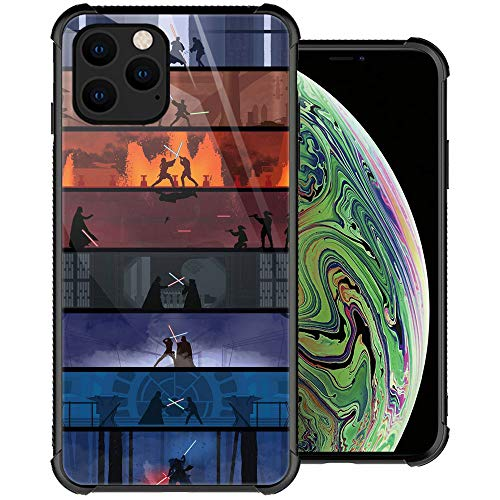 iPhone 11 Pro Max Case, Planet People iPhone 11 Pro Max Cases, Tempered Glass Back+Soft Silicone TPU Shock Protective Case for Apple iPhone 11 Pro Max