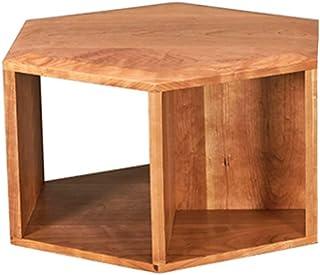 Table HUO Nordic Tout en Bois Massif Hexagonale en Bois De Moderne Minimaliste Multi-Fonctions -54.5 * 63 * 35cm (Couleur...
