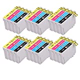 PerfectPrint - 24 (6 Sets of 4) High Capacity Compatible Ink Cartridges for Epson Stylus SX230 SX235W SX420W SX425W SX435W SX440 SX445W SX525WD SX535WD SX620FW and Epson Stylus Office B42WD BX305F BX305FW BX305FW Plus BX320FW BX525WD BX535WD BX625FWD BX635FWD BX925FWD BX935FWD Printers 6x