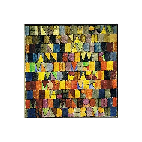 SpringFlower Wandaufkleber Paul Klee Abstrakte Kunst Premium Kunstdruck Dekoration Poster Design Modernes Wandbild Sonderanfertigung Für Wohnzimmer, Wandkunst Klebstoff (C Style)