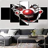 lglays Leinwand Gemälde Home Dekorativ Modular Poster Rahmen Wandkunst Bilder 5-teilig Gruselig Unheimlich Gemälde Hoch bewertet Leinwanddruck wandbild-30x40cm/60cm/80cm