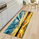 HLXX Alfombrillas Modernas Impresas en 3D Alfombrillas de Cocina Alfombrillas Antideslizantes para alfombras de Sala de Estar Alfombrillas de Dormitorio A1 50x160cm
