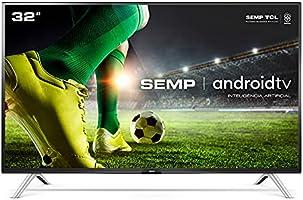 "Smart TV LED 32"" HD Android SEMP 32S5300, Conversor Digital, Wi-Fi, Bluetooth, 1 USB, 2 HDMI, Comando de Voz e Google..."