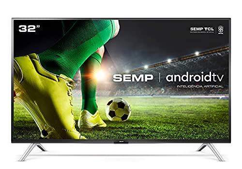 Smart TV LED 32' HD Android SEMP 32S5300, Conversor Digital, Wi-Fi, Bluetooth, 1 USB, 2 HDMI, Comando de Voz e Google Assistant