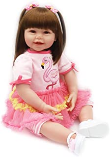 Real Life Reborn Baby Dolls Toodler Girl Realistic Silicone Vinyl Rose Red Outfit 24 Inches