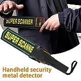 Drohneks Varita detectora de Metales de Mano portátil con Funda para cinturón, escáner de Seguridad de sensibilidad Ajustable con Base de Alarma de Mano
