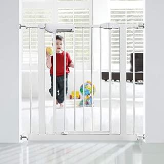 GAOAG ベビーゲート 赤ちゃん ゲート ペットゲート 赤ちゃん ベビーゲート 階段上 ベビーフェンス 突っ張り式 安全ゲート オートゲート 180度前後両開 ダブルロック セーフティゲート 工具組み立て不要 設置幅75~84cm 高さ76cm 日本語説明書付き