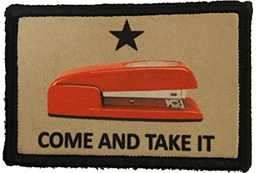 Red Stapler Come and Take It Morale Patch Funny Tactical Military. 2x3