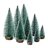 KATELUO 9 Pezzi Mini Alberi di Natale Artificiali,Miniatura Albero di Natale,Mini Alberi d...