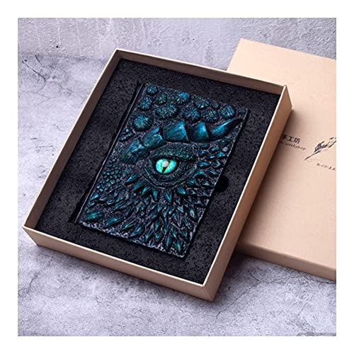 HJHJ Cuaderno de viaje en relieve 3D, diario vintage para escritores y viajeros, cuadernos personalizados para hombres o mujeres (color I-A5 con caja de regalo)