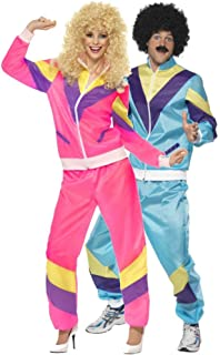 Couples Ladies & Mens 80s 1980s Shell Suit Tracksuit Retro Hen Do Stag Do Fancy Dress Costumes Outfit