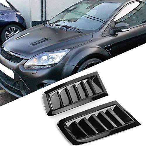 SANON Car ABS Decorative Air Flow Intake Scoop Turbo Bonnet Vent Cover Hood, Bonnet Air Vent Modified Accessory Fits for Fo-d Focus RS MK2
