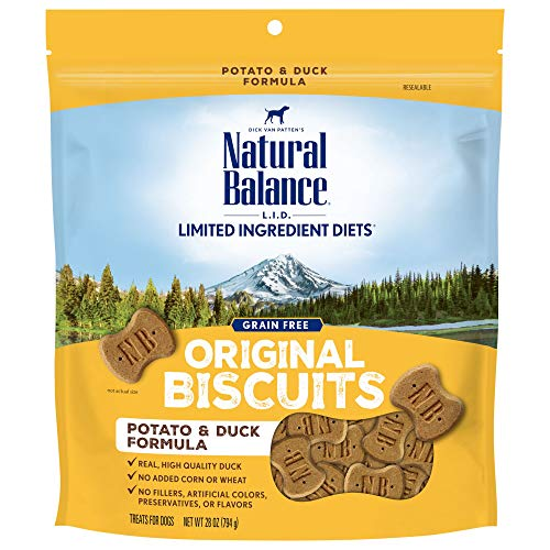 Natural Balance L.I.D. Limited Ingredient Diets Dog Treats, Potato & Duck Formula, 28 Ounce Bag, Grain Free
