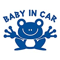 imoninn BABY in car ステッカー 【パッケージ版】 No.22 カエルさん (青色)