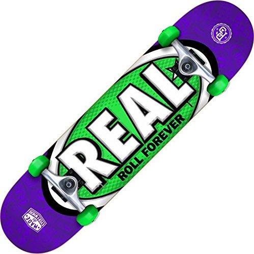 Real Oval Tones SM Lila/Grün komplett Skateboard–19,1cm