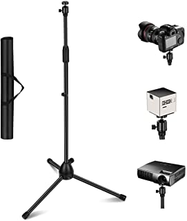 """Projector Stand, Thustar Portable Tripod Stand Lightweight Adjustable Height 29.5"""" to 55.1"""" Floor Stand Holder 360°Swivel ..."""