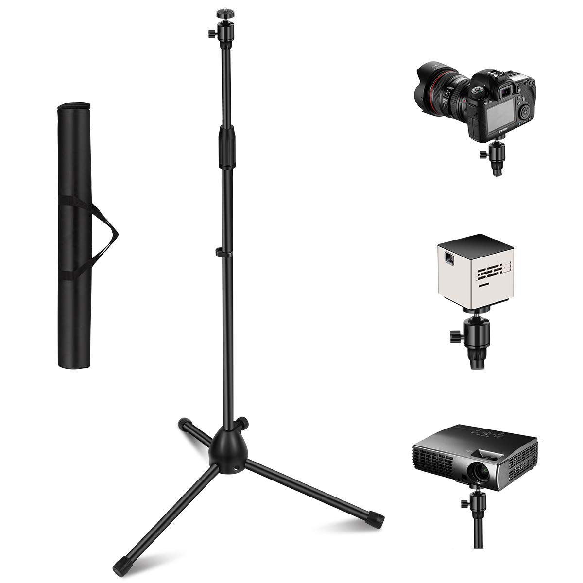 Projector Stand, Thustar Portable Tripod Stand Lightweight ...