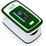 Innovo Deluxe Fingertip Pulse Oximeter with Plethysmograph and Perfusion Index (Deluxe Green)