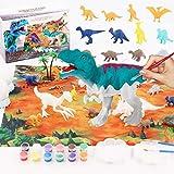 MEIRUIER 40 Piezas Juguetes de Dinosaurios,Kit Pintura para Niños, Figuras Dinosaurios para Pintar,Juguetes de Dinosaurios Creativo No Tóxicos Triceratops, cumpleaños para niños