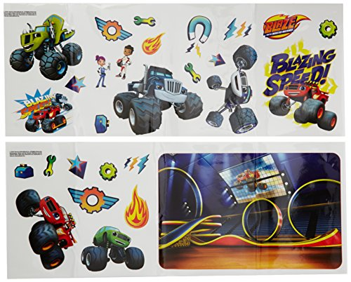 Nickelodeon Official Blaze and The Monster Machines Wall Stickers-28 Pack, Vinyl, Multicolour, 36 x 18 x 3 cm