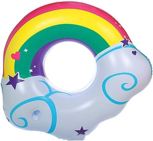 LICCC Regenbogen-Schwimmring für Erwachsene Fünfzackiger Stern Dicker aufblasbarer Schwimmring Anf er Unterarm-Schwimmring