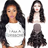 Maxine Hair Brazilian Body Wave Lace Front Wigs with Baby Hair 130% Density Glueless Wigs 100% Virgin Human Hair Wigs for Black Women Natural Color(16inch)