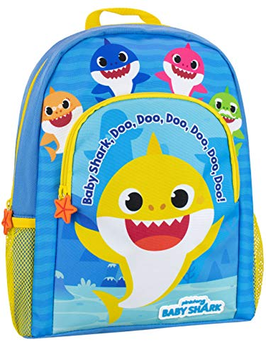 Pinkfong Mochila para Niños Baby Shark Azul