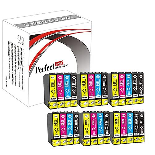 PerfectPrint – Lot de 26 cartouches d'encre de remplacement T1281T1282T1283T1284(T1285) compatibles avec les imprimantes Epson Stylus S22 SX125 SX130 SX420W SX425W SX445W BX305F BX305FW SX230 SX235W SX445W SX435W SX430W SX438W SX440W