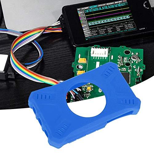 Kadimendium Funda Protectora de Silicona Flexible Profesional Instrumento de Carcasa de Silicona Cómodo y Suave para Mini osciloscopio DS213(Blue)
