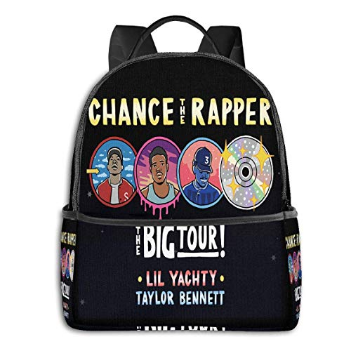 Lsjuee Chance The Rapper Novel and Stylish Black Backpack Travel Computer Bag