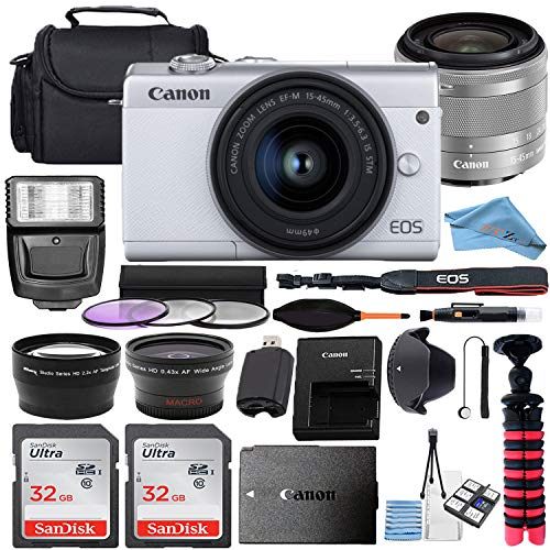 Canon EOS M200 Mirrorless Digital Camera 24.1MP...