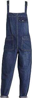 Minghe Women's Casual Baggy Denim Bib Overall Jeans Romper Jumpsuit Pants