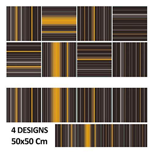 Meisterei FLOORDIREKT tapijttegels Paris 50x50 cm zelfliggend - duurzame vloerbedekking met hoogwaardige slingenpool - antistatisch met bitumen rug