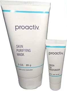 Proactiv Skin Purifying Mask 3oz + Free Bonus Green Tea Moisturizer .33 fl oz 10mL