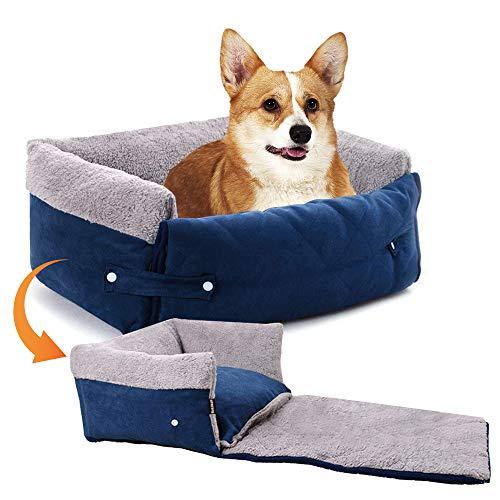 NIBESSER Hunde Autositz für Kleine Mittlere Hunde Hunde Autoschondecke Faltbar Autositzbezug mit weichem Kissen