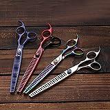 ZHAOXQ Tijeras de Corte de Pelo Profesional Limpio y preciso Corte de Pelo Tijeras de reducción Set Tijeras de peluquería, esquileos del Corte del Pelo y estética Salón Tijeras Gratis (Color : 4)