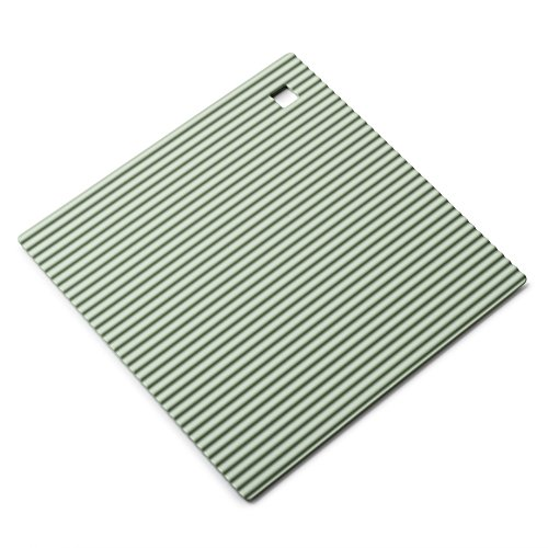 Zeal Dessous de Plat en Silicone antidérapant et résistant à la Chaleur 18 cm, Silicone, Vert Sauge, 7-inch
