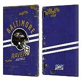 Head Case Designs Licenciado Oficialmente NFL Casco Distressed Look 100th Baltimore Ravens Logo Art ...