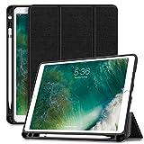 INFILAND iPad Air 10,5 Zoll (3. Generation) 2019/ iPad Pro 10,5 Hülle mit Pencil Halter, Ultra Schlank Ständer Schutzhülle Hülle Tasche mit Auto Schlaf/Wach für iPad Air 3/10,5 iPad Pro, Schwarz
