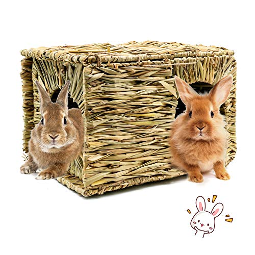 BWOGUE Extra Large Grass House for Rabbits
