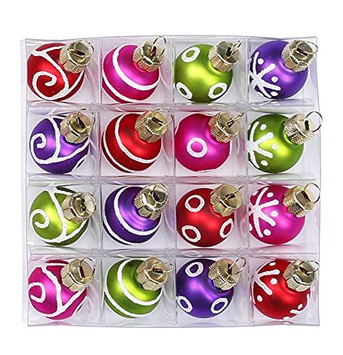 MAGIC Bolas de Navidad de cristal, 2 cm x 16 unidades, varios colores