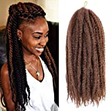 Marley Hair 18 Inch 1 Pack Cuban Twist Long Afro kinky Twists Hair for Distressed Butterfly Locs Crochet Hair Extensions(30#)