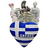 Etiqueta engomada magnética del regalo, del hogar y de la cocina del recuerdo del imán del refrigerador de 3D Atenas Grecia