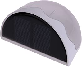 أضواء الحدائق الشمسية من Demiawaking 6 مصابيح حائط شبه دائرية تعمل بالطاقة الشمسية ومضادة للماء ومصباح الحدائق الخارجي والمصابيح الجدارية للحديقة والممر (أبيض)