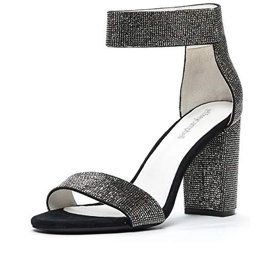 Jeffrey Campbell Lindsay JS, Rhinestone Dress Sandal, Black, 9.5