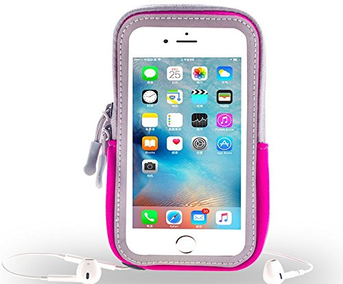 Caliente rosa correr Deportes Gimnasio Brazalete con cremallera para iPhone 7Plus/Samsung Galaxy S7Edge/A5J3J5/LG G5/LG lápiz capacitivo 2/LG Nexus 5X/LG X Cam/LG K4K8/Wileyfox Spark X