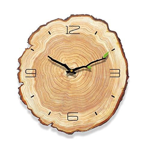 dingtian Reloj de Pared Reloj De Pared Vintage De Madera De 12 Pulgadas Reloj De Pared Operado Silenciosamente Decoración De Pared para El Hogar De Oficina